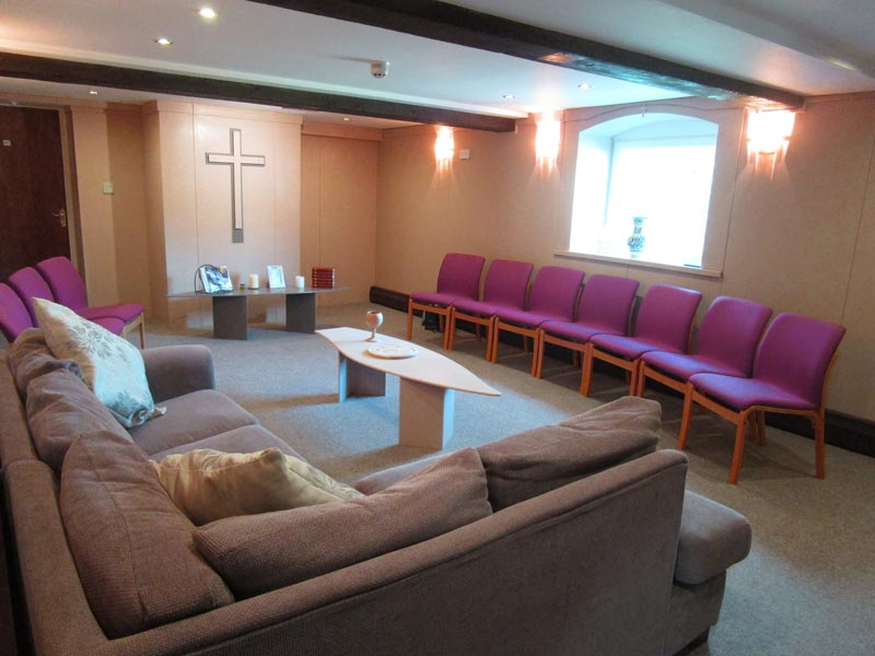 The ground floor has a chapel, a meeting/dining room seating up to 50 people and a self-catering kitchen.
